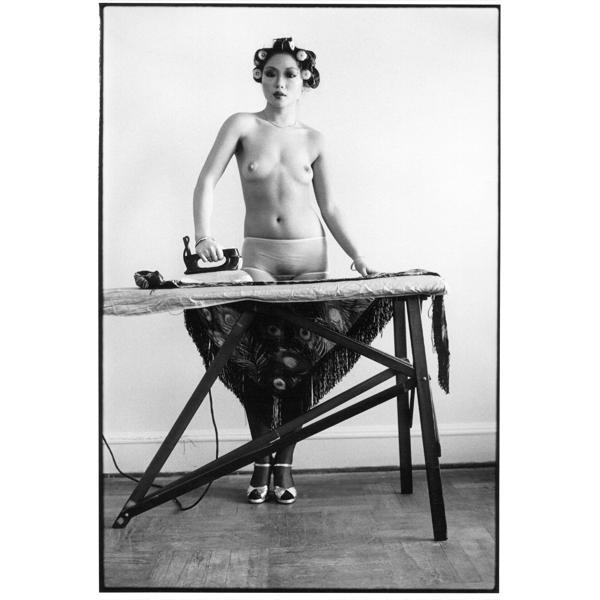 """Arlene Gottfried, """"Eddie Sun's Friend Ironing"""", NY 1972_copyright Arlene Gottfried (photo: courtesy Galerie Bene Taschen)"""
