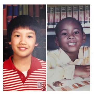 Public School designers Dao-Yi Chow & Maxwell Osborne share childhood photos as kids to help raise awareness for Warby Parker's #PupilsProject.