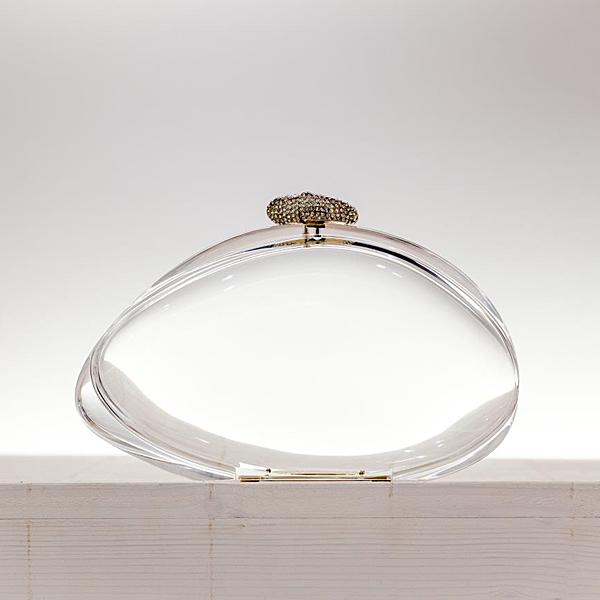 Benedetta Bruzziches plexiglass and brass clutch. (photo: Benedetta Bruzziches)