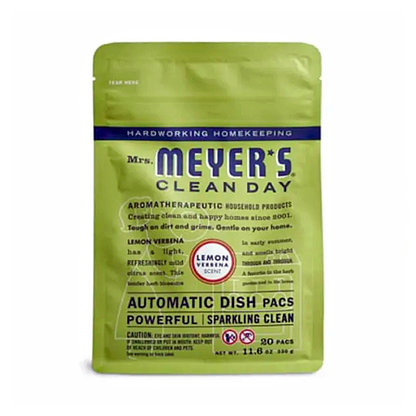 Mrs. Meyer's Clean Day Automatic Dishwasher Soap Packs, 8.99 USD. (photo: Mrs. Meyers)