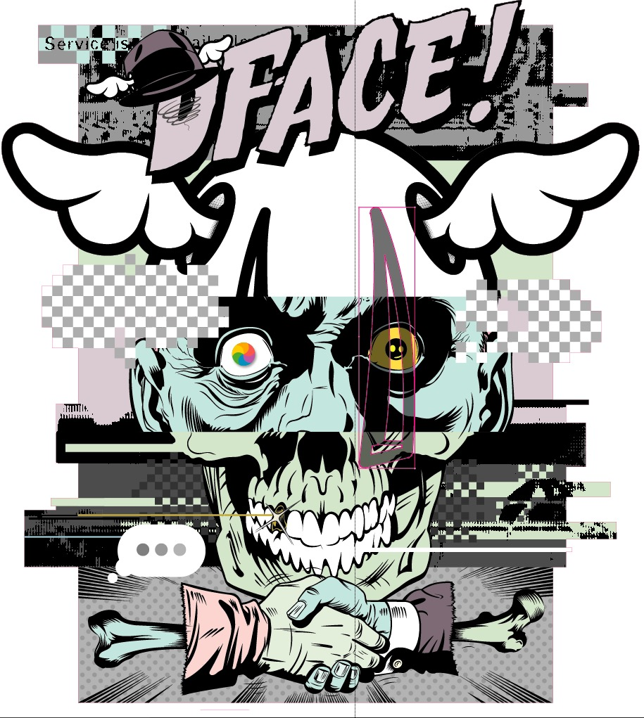 D*FACE artwork (photo: courtesy of StolenSpace Gallery)