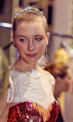 The Fashion Plate backstage at Elisabetta Franchi SS19 fashion show. (photos: Monika Mrozik)