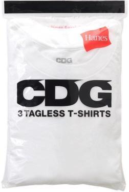 Commes des Garçons x Hanes t-shirts. 100% cotton, $90.