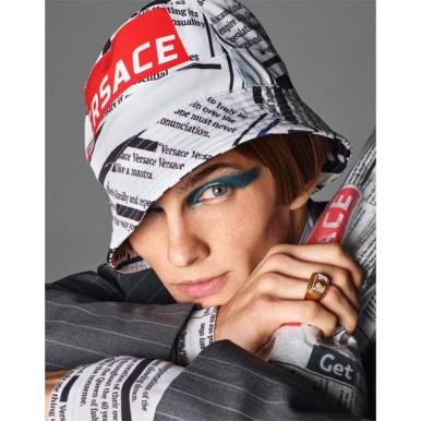 Model in Versace Spring 2019 (photo: Versace)