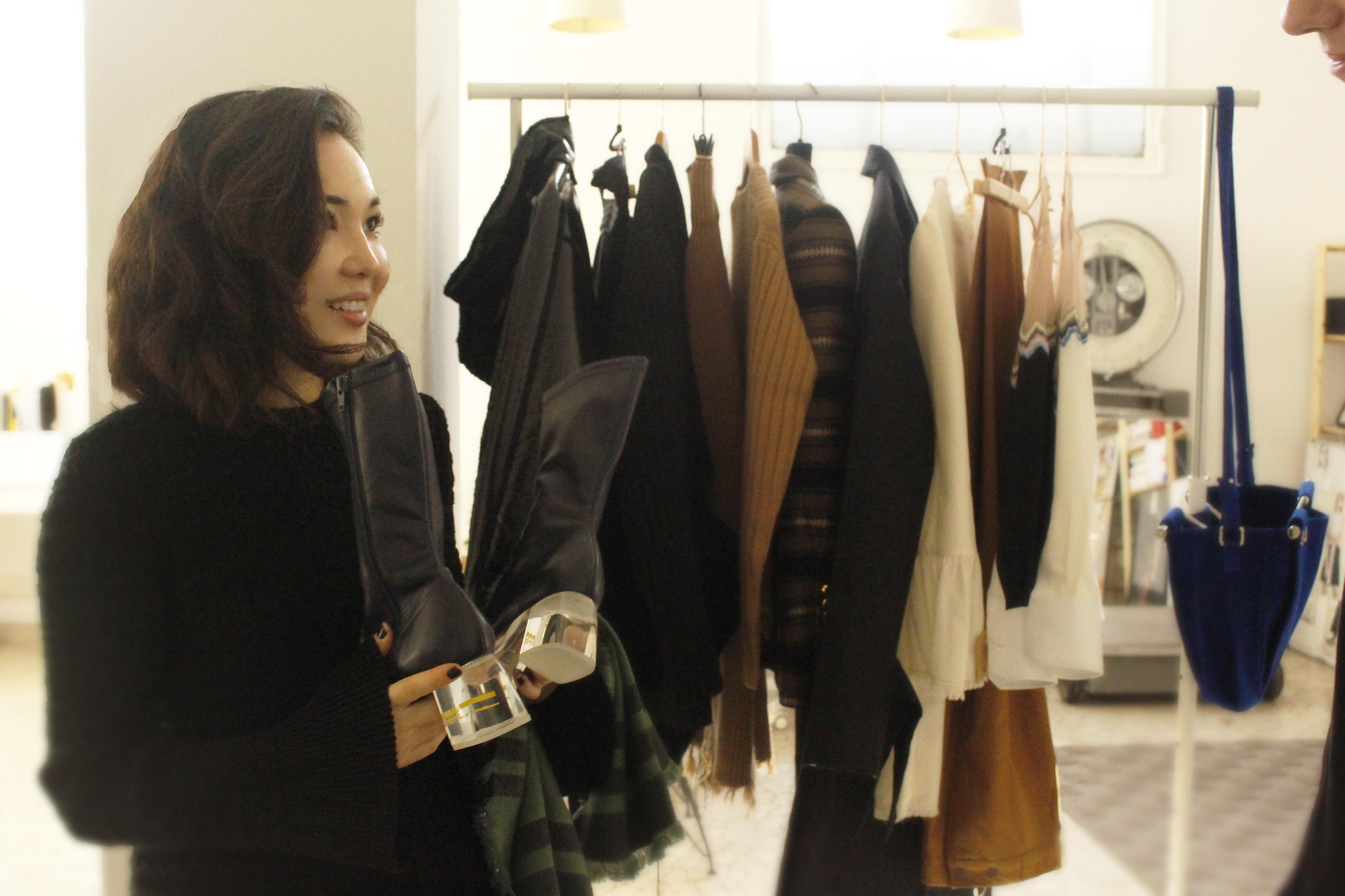 Aeré-store founder and owner Azhar Safinova. (photo: Paloma Montanaro)