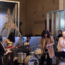 Jazz monsters, the Onyx Collective, playing a set during Pitti Uomo 95 (photo: Lucas Pantoja)