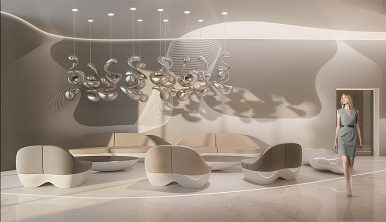 Rendered Image of Hill8 Condominiums. Interiors designed by Karim Rashid (photo: courtesy of Karim Rashid)