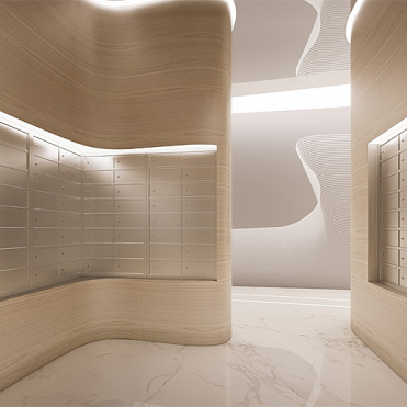 Rendered Image of Hill8 Condominiums. Interiors designed by Karim Rashid (photo: courtesy of Karim Rashid)