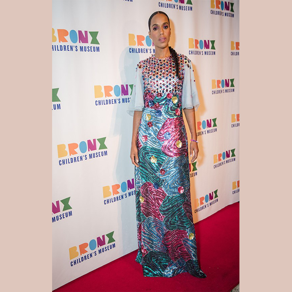 Kerry Washington at the BXCM Gala in Delpozo fall 2018 collection (photo: courtesy)