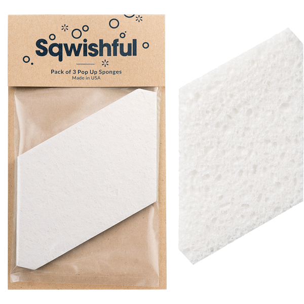 Sqwishful Pop Up Sponges $6 Pack of 3 (photo: Sqwishful)