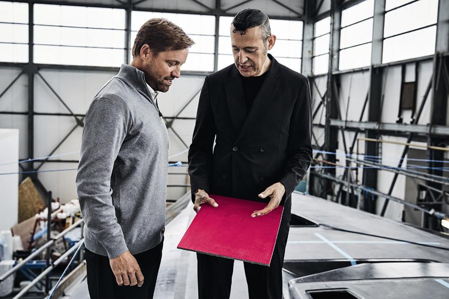 Designer Karim Rashid and Boss yachtsman Alex Thomson (photo: courtesy Karim Rashid)