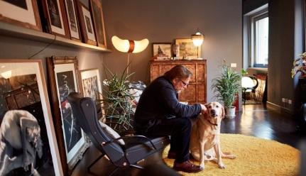 Designer Massimo Alba in his home. (photo: Justin Bridges)