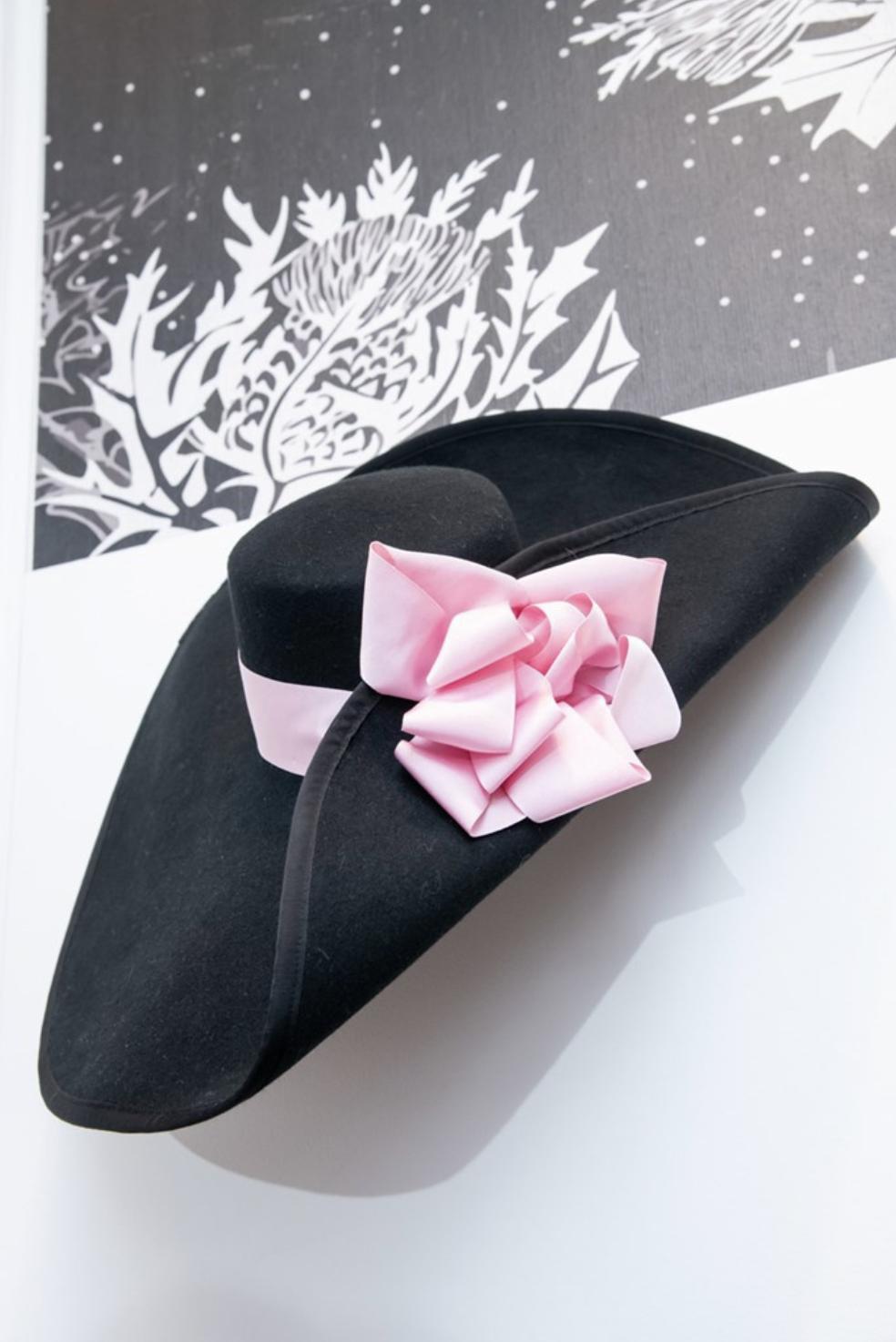 Borsalino's Schiaparelli inspired hand-stitched hat (photo: courtesy Borsalino)