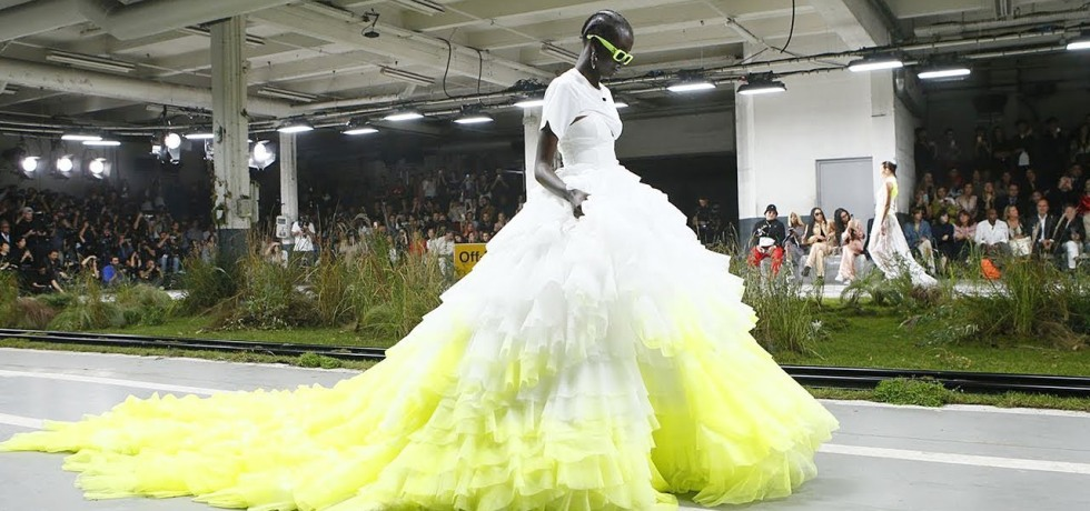 Beyonce in Off-The Spring 2019 Off-White by Virgil Abloh finale dress. (photo: courtesy)