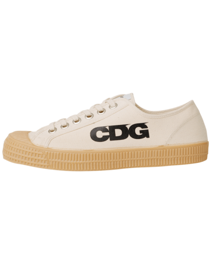Commes des Garçons sneaker, 100% cotton and rubber, $125.