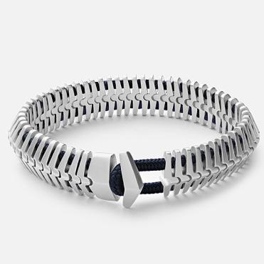 "Miansai ""Klink"" Silver Bracelet, $540 USD."