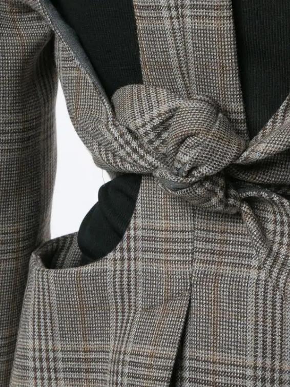Close up of the Christopher Esber loophole tie back blazer (photo: courtesy of Christoper Esber)