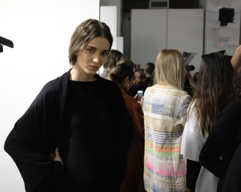 Before the show: The Sartorial Monk Fall/ Winter 2019-20 fashion show backstage. (Photo: Lucas Pantoja)